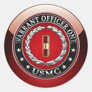 U.S. Infantes de marina: Suboficial mayor uno Pegatinas Redondas