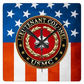 U.S. Infantes de marina: Teniente Coronel (USMC Lt Reloj Cuadrado