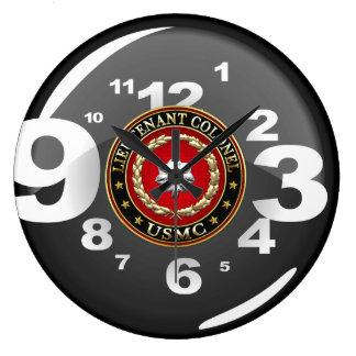 U.S. Infantes de marina: Teniente Coronel (USMC Reloj Redondo Grande