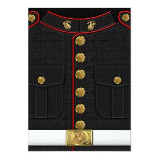 """U.S. Infantes de marina: Uniforme de vestido del Invitación 5"""" X 7"""""""