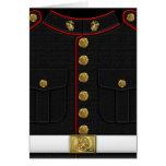 U.S. Infantes de marina: Uniforme de vestido del Tarjeta De Felicitación