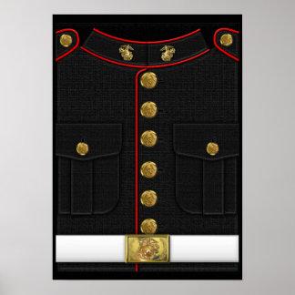 U.S. Infantes de marina: Uniforme de vestido del U Poster