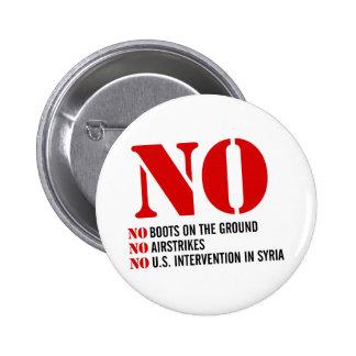 U.S. Intervention in Syria Pinback Button