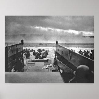 U.S. Invasion of Normandy Omaha Beach Print