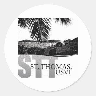 U.S. Islas Vírgenes Pegatina Redonda