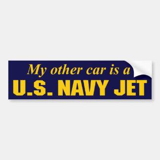 U.S. Jet de la marina de guerra Etiqueta De Parachoque