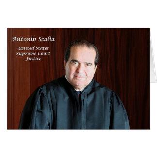 U.S. Juez del Tribunal Supremo Antonin Scalia Tarjeta De Felicitación