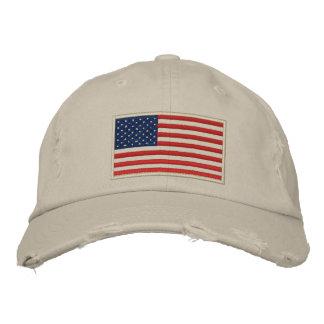 U.S. La bandera bordó el gorra apenado Gorra De Beisbol Bordada