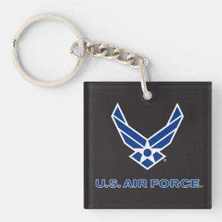 U.S. Logotipo de la fuerza aérea - azul Llavero Cuadrado Acrílico A Doble Cara