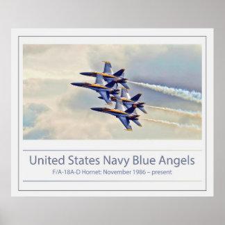 U.S. Los ángeles azules de marina de guerra Póster