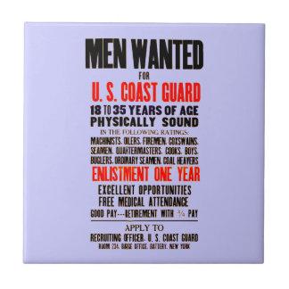 U.S. Los hombres del guardacostas quisieron la Azulejo Cuadrado Pequeño
