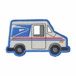 U.s. Mail Truck Embroidered Hoody