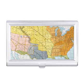 U.S. MAP, 1776-1884 CASE FOR BUSINESS CARDS