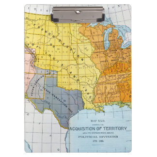U.S. MAP, 1776-1884 CLIPBOARD