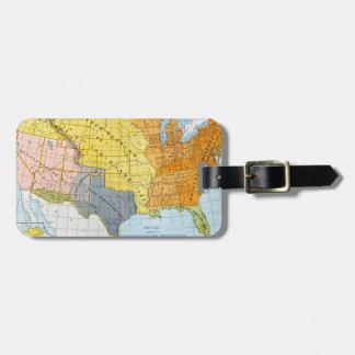 U.S. MAP, 1776-1884 LUGGAGE TAG