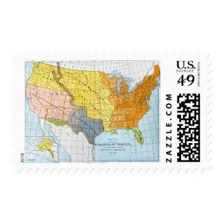 U.S. MAP, 1776-1884 POSTAGE