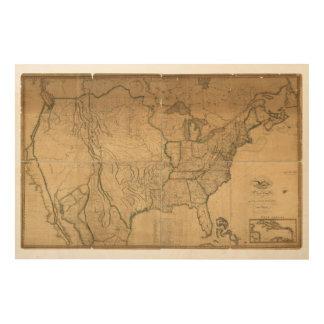 United States Map Wood Wall Art Zazzle - Us map wall art