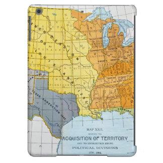 U.S. MAPA, 1776-1884 FUNDA PARA iPad AIR