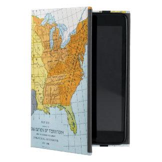 U.S. MAPA, 1776-1884 iPad MINI CÁRCASA