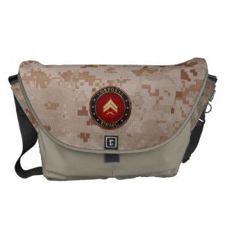 U.S. Marine Corporal 3D Rank Insignia Messenger Bag