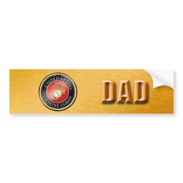 U.S. Marine Corps Dad Bumper Sticker
