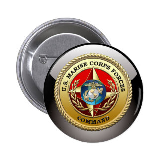 U.S. Marine Corps Forces Command (MARFORCOM) [3D] 2 Inch Round Button