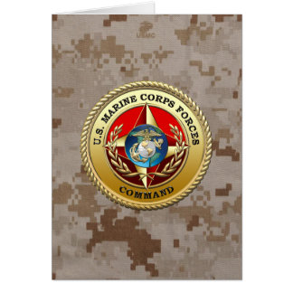 U.S. Marine Corps Forces Command (MARFORCOM) [3D] Greeting Cards