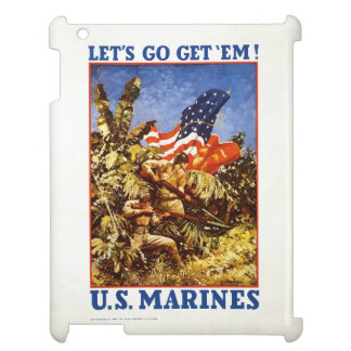 "U.S. Marine Corps ""Let's Go Get 'Em"" iPad Case"