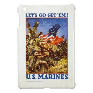 "U.S. Marine Corps ""Let's Go Get 'Em"" Poster iPad Mini Cover"