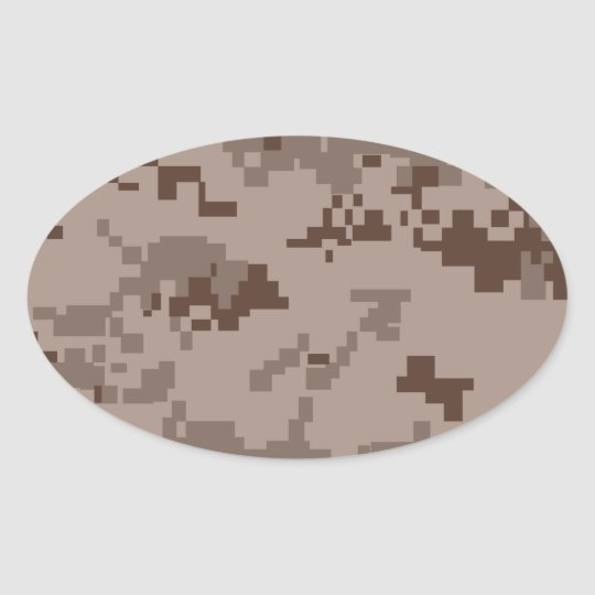 U.S. Marine Corps Marpat Desert Camouflage Oval Sticker