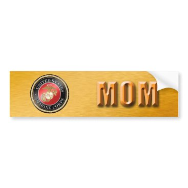 U.S. Marine Corps Mom Bumper Sticker