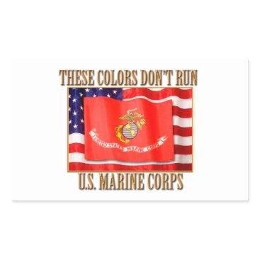 U.S. Marine Corps Rectangle Stickers