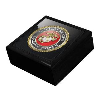 U S Marine Corps USMC Emblem 3D Trinket Boxes