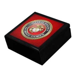 U.S. Marine Corps (USMC) Emblem [3D] Keepsake Box