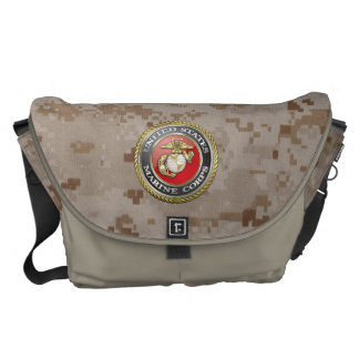 U.S. Marine Corps (USMC) Emblem [3D] Messenger Bag