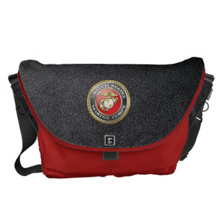 U.S. Marine Corps (USMC) Emblem [3D] Messenger Bags