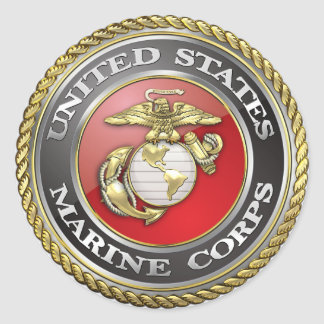 U S Marine Corps USMC Emblem 3D Stickers