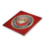 U.S. Marine Corps (USMC) Emblem [3D] Small Square Tile