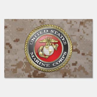U.S. Marine Corps (USMC) Emblem [3D] Yard Signs