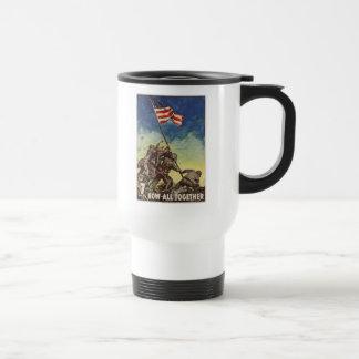 "U.S. Marine Corps Vintage ""Now All Together"" Travel Mug"