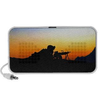 U.S. Marine Provides Security Operation Backstop Portable Speakers