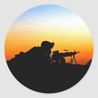 U.S. Marine Provides Security Operation Backstop Stickers