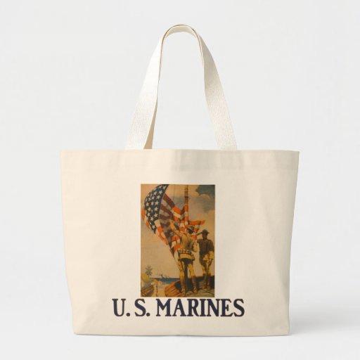 U.S. Marines: 1913 - Jumbo Tote #3 Canvas Bags
