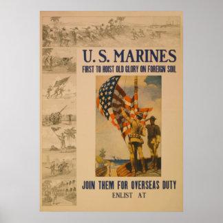 U S Marines 1913 - Poster