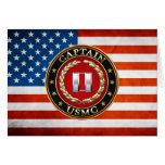 U.S. Marines: Captain (USMC Capt) [3D] Greeting Card