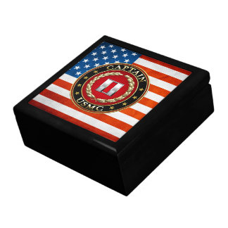 U S Marines Captain USMC Capt 3D Trinket Box