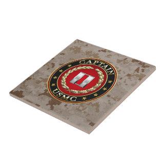 U.S. Marines: Captain (USMC Capt) [3D] Small Square Tile