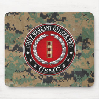 U.S. Marines: Chief Warrant Two (USMC CWO-2) [3D] Mouse Pad