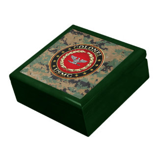 U S Marines Colonel USMC Col 3D Jewelry Boxes