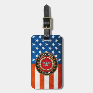 U.S. Marines: Colonel (USMC Col) [3D] Luggage Tag